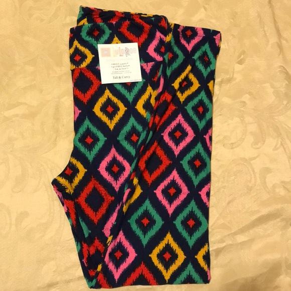 9192837d0deee LuLaRoe Pants | Leggings Yellow Green Pink Pattern New Tc | Poshmark